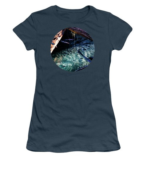 Aquamarine Women's T-Shirt (Junior Cut) by Adam Morsa