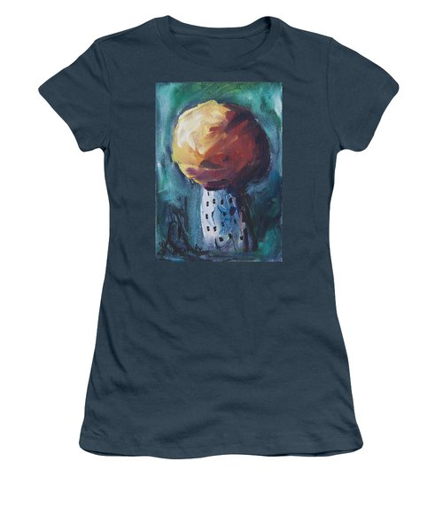 Women's T-Shirt (Junior Cut) featuring the painting Aspen Bolitas Mushroom by Yulia Kazansky