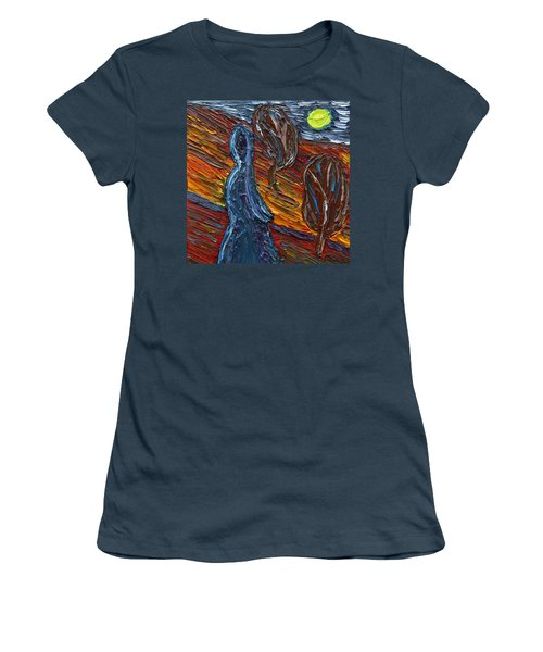 Women's T-Shirt (Junior Cut) featuring the painting Aspiration by Vadim Levin