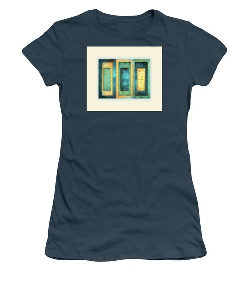 Women's T-Shirt (Junior Cut) featuring the painting Aurora's Vision by Deborah Smith