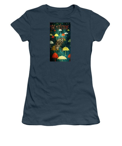 Be Yourself - Large Format Women's T-Shirt (Junior Cut) by Bonnie Bruno