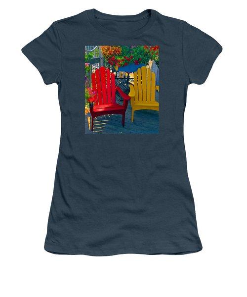 Beach Town Charm Women's T-Shirt (Junior Cut) by Marie Hicks