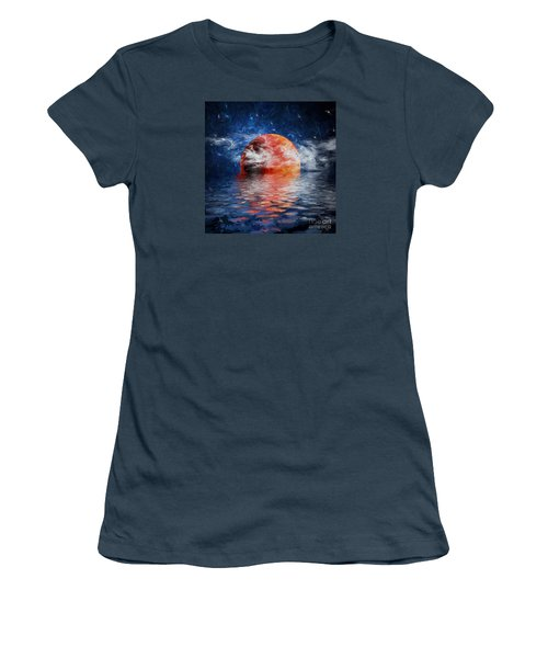 Blood Moon A Rising Women's T-Shirt (Junior Cut) by Jim  Hatch
