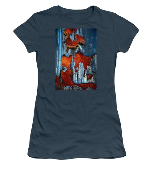 Women's T-Shirt (Junior Cut) featuring the photograph Blue And Rust by Karol Livote