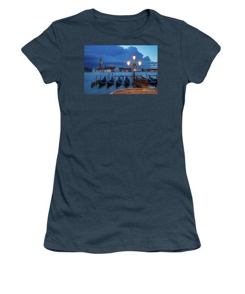 Women's T-Shirt (Junior Cut) featuring the photograph Blue Dawn Over Venice by Brian Jannsen