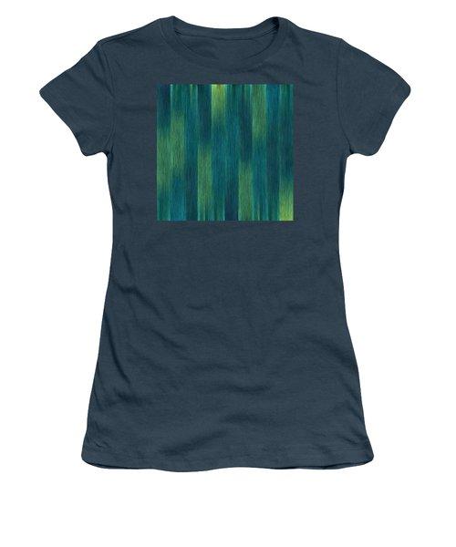 Blue Green Abstract 1 Women's T-Shirt (Junior Cut)