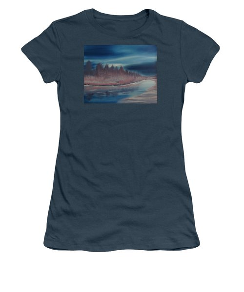 Blue Nightfall Evening Women's T-Shirt (Junior Cut) by Rod Jellison