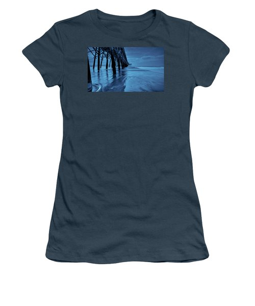 Women's T-Shirt (Junior Cut) featuring the photograph Blue Pier by RC Pics