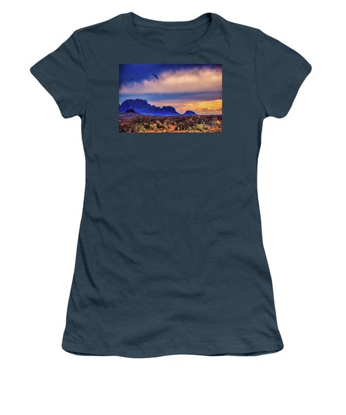 Blue Sunset Nm-az Women's T-Shirt (Junior Cut) by Diana Mary Sharpton