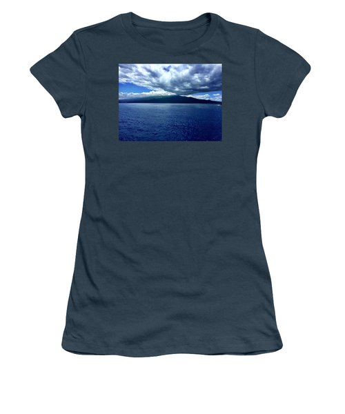 Women's T-Shirt (Junior Cut) featuring the photograph Boat View 2 by Michael Albright