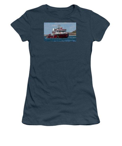 Boston Fire Rescue Women's T-Shirt (Junior Cut) by Brian MacLean