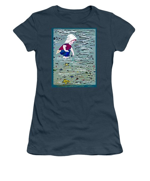 Boy On Beach Women's T-Shirt (Junior Cut) by Desline Vitto