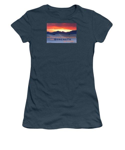 Brave Thoughts Women's T-Shirt (Junior Cut)