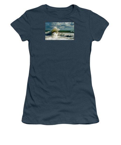 Breakwater Backwash Women's T-Shirt (Junior Cut) by Michael Cinnamond