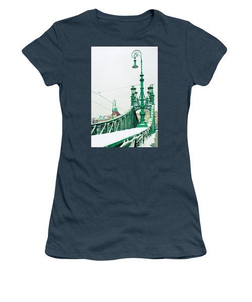 Bridge Of Liberty In Budapest Women's T-Shirt (Junior Cut) by Anastasy Yarmolovich