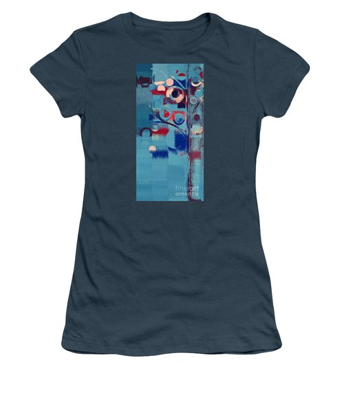 Women's T-Shirt (Junior Cut) featuring the painting Bubble Tree - 85e-j4 by Variance Collections