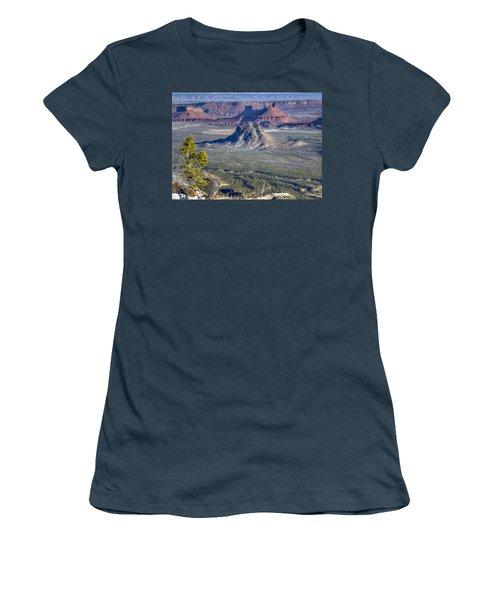 Castle Valley Overlook Women's T-Shirt (Junior Cut) by Alan Toepfer