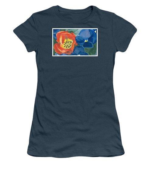 Cat Tulip Women's T-Shirt (Junior Cut) by Joel Deutsch