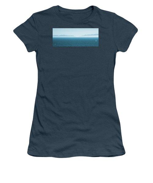 Catalina Island Large Panoramic Color Fine Art Print On Metal Women's T-Shirt (Junior Cut) by Ben and Raisa Gertsberg