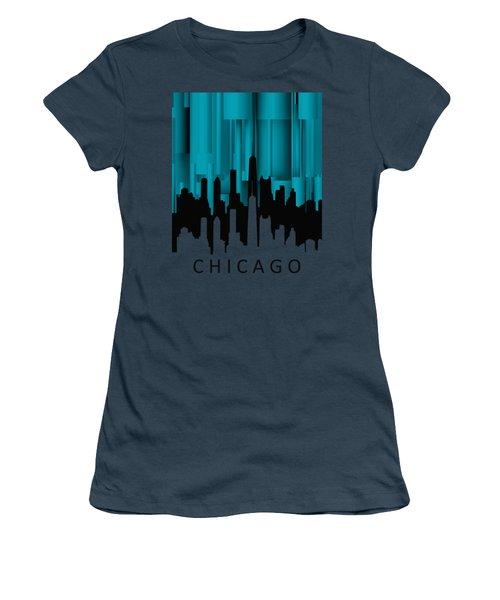 Chicago Turqoise Vertical Women's T-Shirt (Junior Cut) by Alberto RuiZ