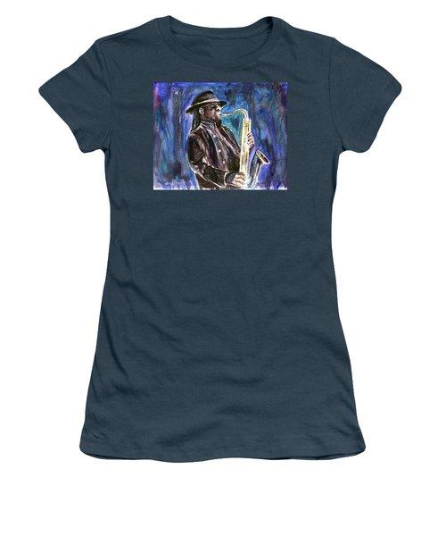 Clarence Clemons Women's T-Shirt (Junior Cut) by Clara Sue Beym