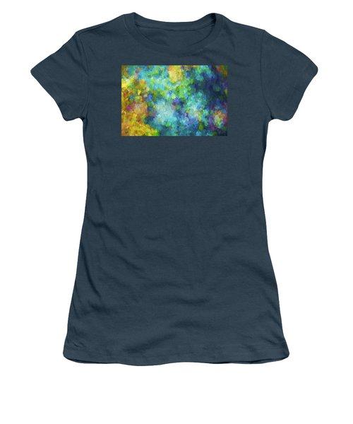 Color Abstraction Xliv Women's T-Shirt (Junior Cut) by David Gordon