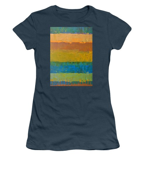 Women's T-Shirt (Junior Cut) featuring the painting Color Collage Three by Michelle Calkins