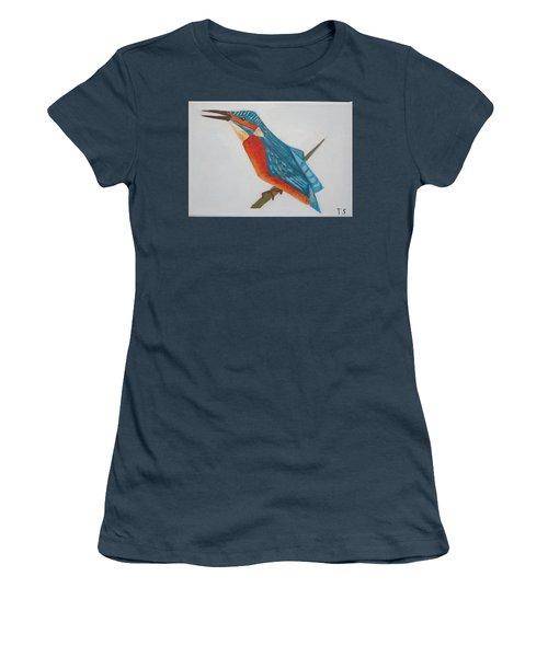Common Kingfisher Women's T-Shirt (Junior Cut) by Tamara Savchenko