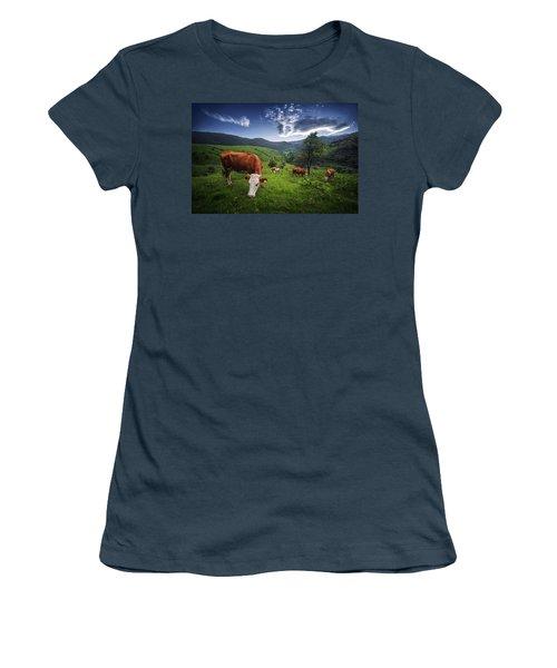 Cows Women's T-Shirt (Junior Cut) by Bess Hamiti