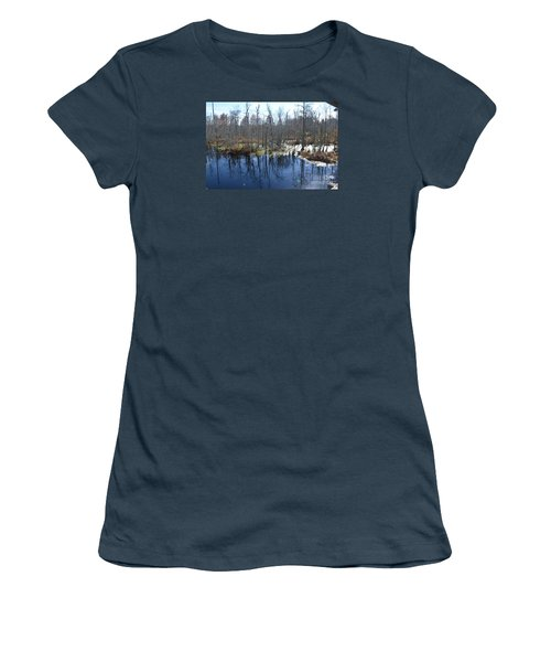 Cypress Swamp Women's T-Shirt (Junior Cut) by Gordon Mooneyhan