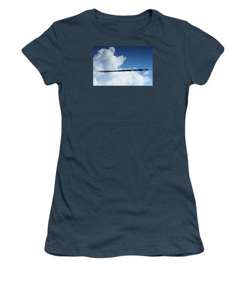 Women's T-Shirt (Junior Cut) featuring the photograph Dangerous Reflection Saltwater Crocodile 2 by Gary Crockett