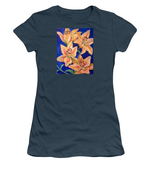 Day Lilies Women's T-Shirt (Junior Cut) by Laura Aceto