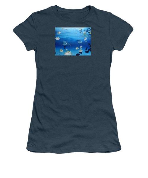 Delphinus Women's T-Shirt (Junior Cut) by Angel Ortiz
