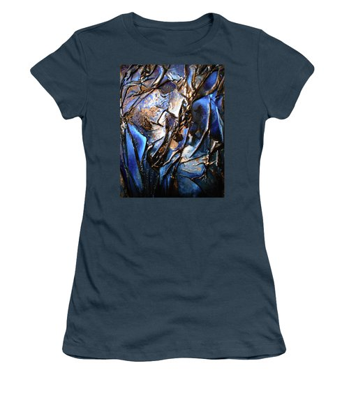 Women's T-Shirt (Junior Cut) featuring the mixed media Depth by Angela Stout