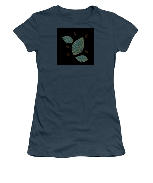 Women's T-Shirt (Junior Cut) featuring the drawing Descending Leaves by Kandy Hurley