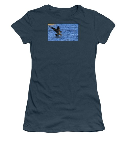 Women's T-Shirt (Junior Cut) featuring the photograph Dinner Run by Coby Cooper