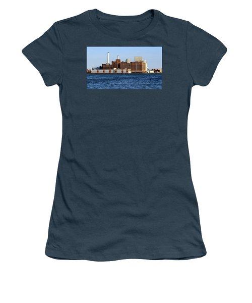 Domino Sugar Women's T-Shirt (Junior Cut) by Joseph Skompski