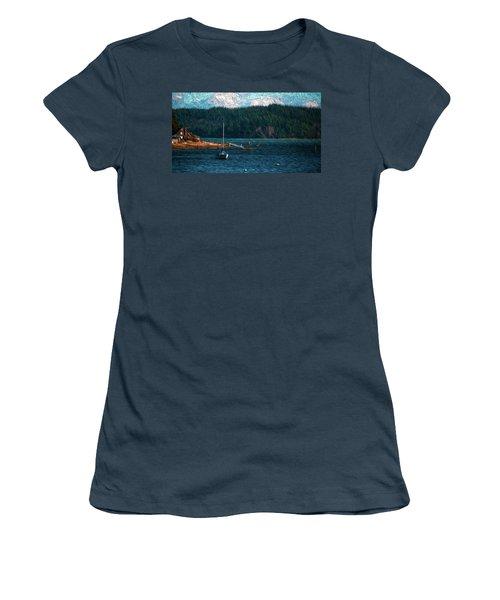 Women's T-Shirt (Junior Cut) featuring the digital art Drifting by Timothy Hack