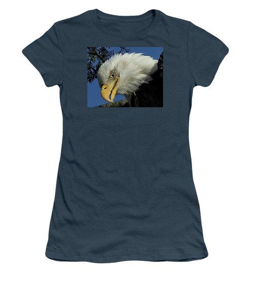 Eagle Head Women's T-Shirt (Junior Cut) by Sheldon Bilsker