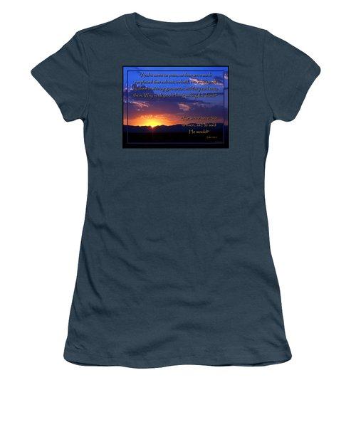Easter Sunrise - He Is Risen Women's T-Shirt (Junior Cut) by Glenn McCarthy Art and Photography