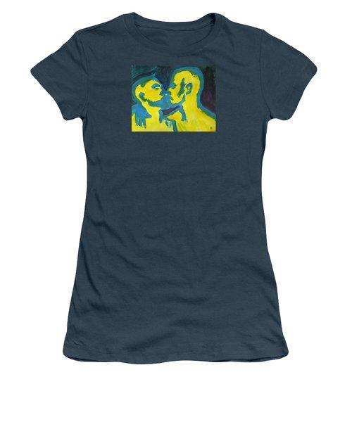 Electric Kiss Women's T-Shirt (Junior Cut) by Shungaboy X