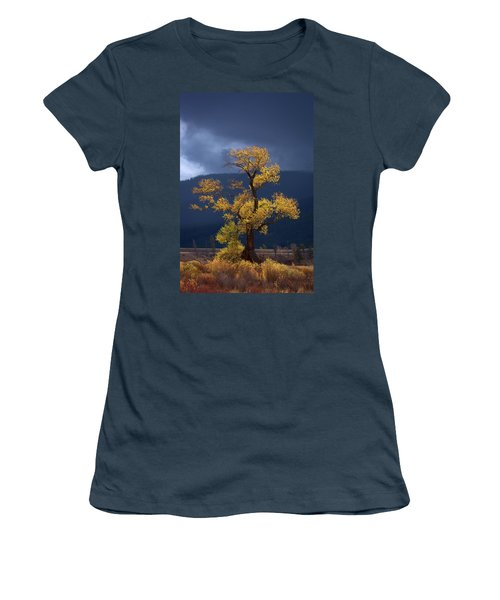 Facing The Storm Women's T-Shirt (Junior Cut) by Edgars Erglis
