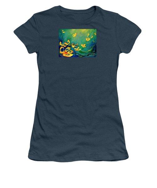 Fantasy World Women's T-Shirt (Junior Cut) by Teresa Wegrzyn