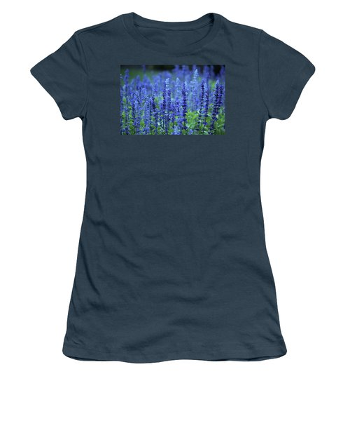 Fields Of Blue Women's T-Shirt (Junior Cut) by Rowana Ray