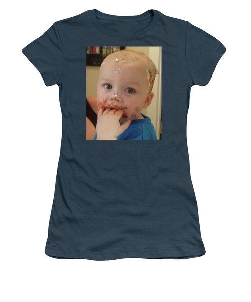 Finger Lickin Good Women's T-Shirt (Junior Cut) by Val Oconnor