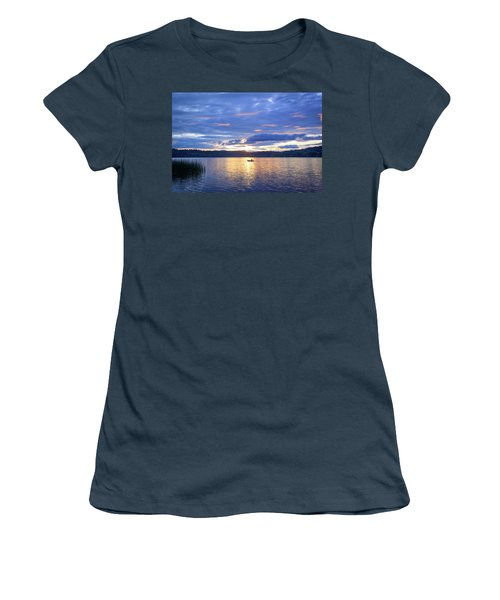 Fisherman Heading Home Women's T-Shirt (Junior Cut) by Keith Boone