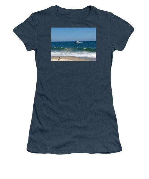 Fishing Boat Women's T-Shirt (Junior Cut) by Dorothy Maier