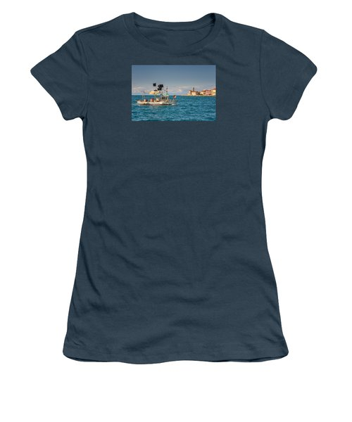 Fishing Boat Women's T-Shirt (Junior Cut) by Robert Krajnc