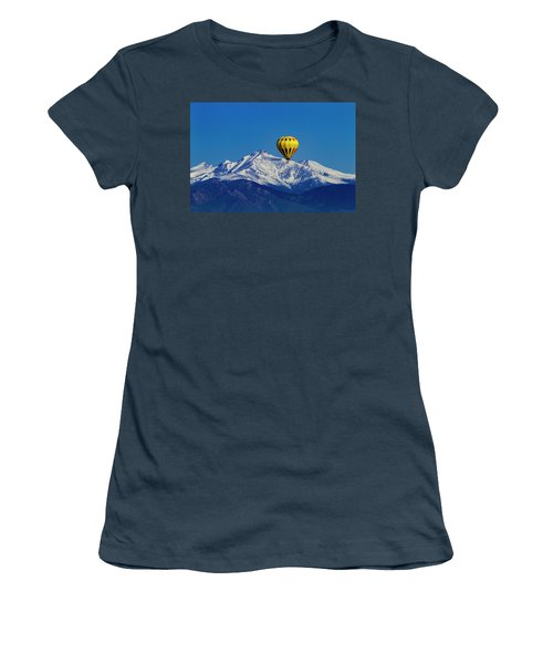 Floating Above The Mountains Women's T-Shirt (Junior Cut) by Teri Virbickis