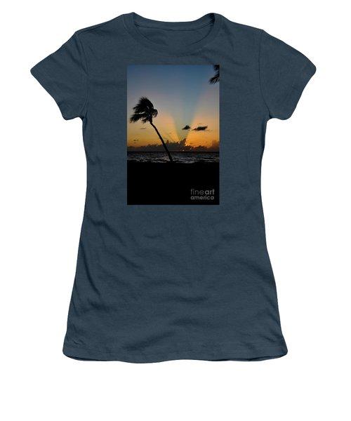 Florida Sunrise Palm Women's T-Shirt (Junior Cut)